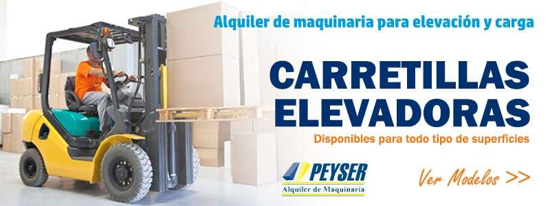 Alquiler de carretillas elevadoras en Madrid