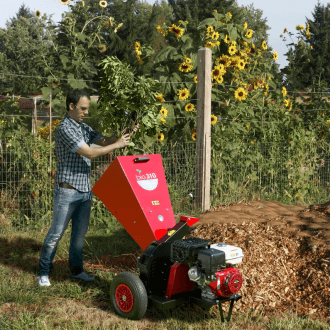 Biotrituradora de gasolina profesional